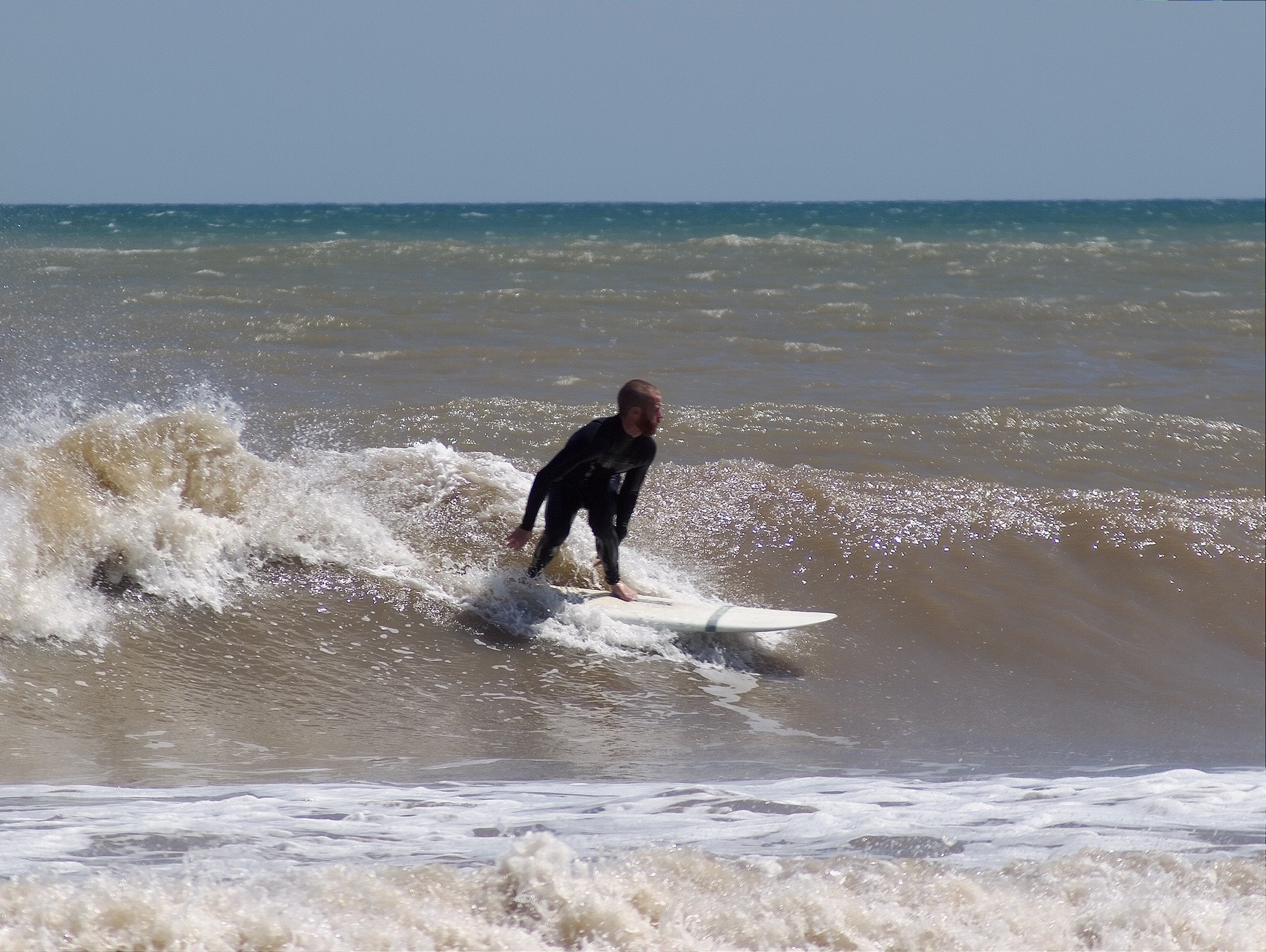 Surfing at Mustang Island State Park
