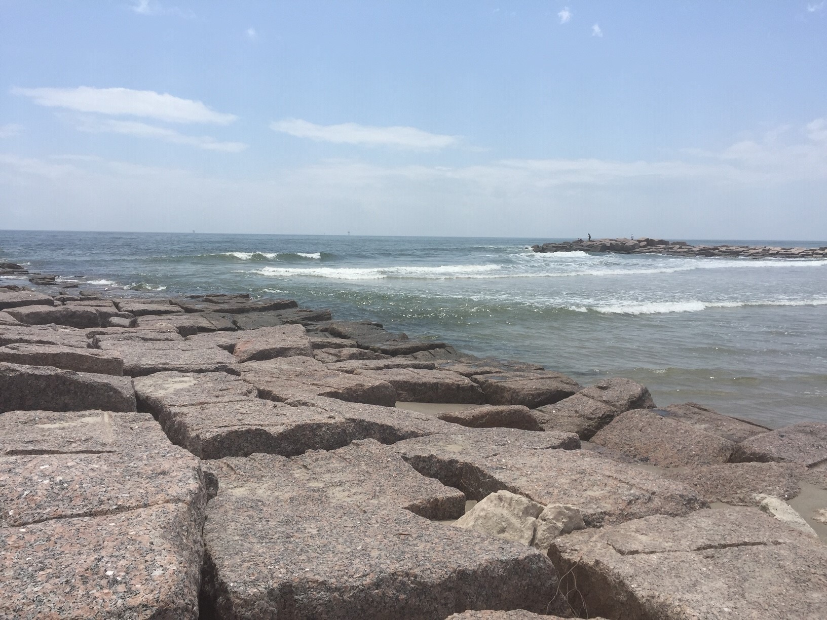 Jetties at Mustang Island State Park